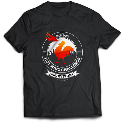The Red Dog Hot Wing Challenge T-Shirt