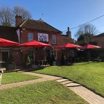 The Red Dog Cafe in the sun